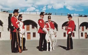 Guards, Goat Major, Drummer at Old Fort Henry, Kingston, Ontario, Canada, 195...