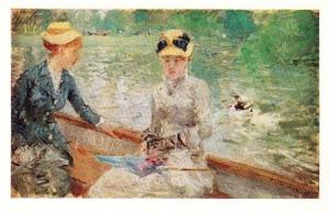 Morisot Berthe Jour D'Ete Rare French London Art Gallery Painting Postcard