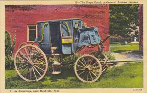 Stage Coach Of General Andrew Jackson At Hermitage Near Nashville Tennessee C...