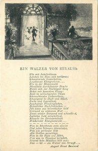 Ein Walzer von Strauss postkarte