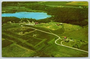 Fredonia Wisconsin~Camp Awana Aerial View~Landscape Painting Teacher~c1966