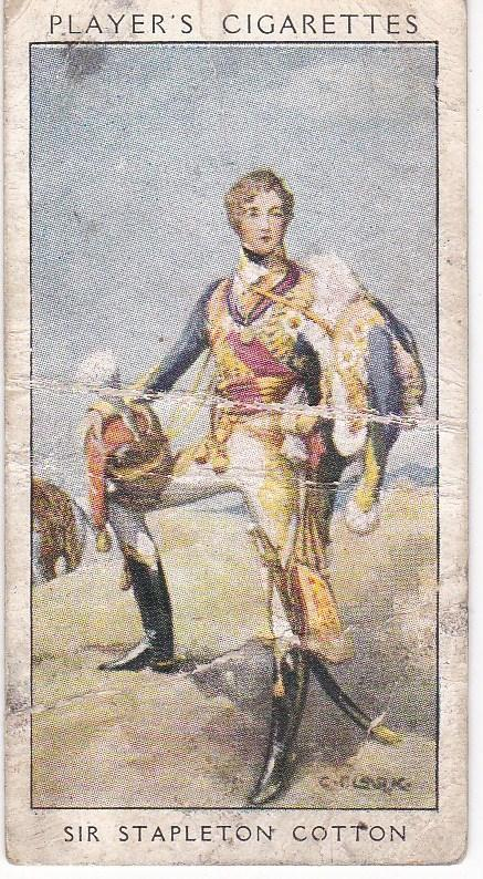Cigarette Card Player's Dandies No 26 Sir Stapleton Cotton