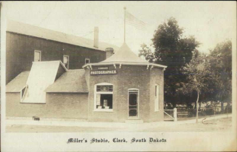 Clark SD Miller's Photographer Studio Advertising Photography c1910 RPPC spg