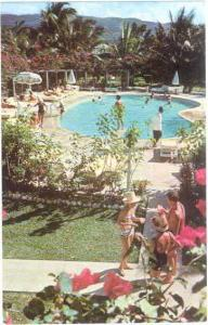 Royal Caribbean Hotel Pool Scene at Montego Bay, Jamaica, W.I. Chrome
