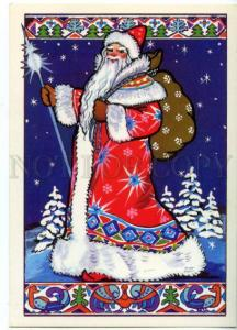 154461 New Year DED MOROZ Santa Claus by LINDE Old Russian PC