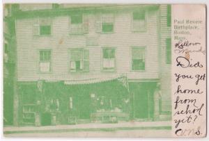 Paul Revere Birthplace, Boston MA