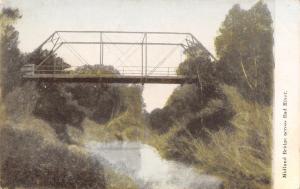 Philip? SD Short Pony Truss Midland Bridge Over the Bad River~c1907 Postcard/PC