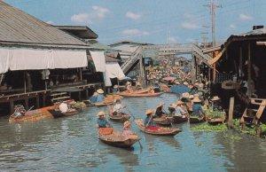 THAILAND, 1950-1960s; The Floating Market, Damnoen Sudak