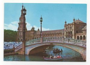 Spain Seville Plaza de Espana Bridge Vintage Postcard 4x6