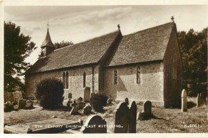 Postcard UK England Wittering, Northamptonshire 12th century church