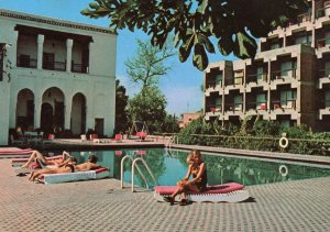 AK Marokko Marrakech Piscine Hotel des Almoravides Postcard