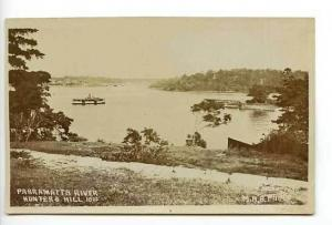 Ashfield Australia Steam Ship Parramatta RPPC Postcard