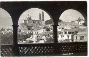 RP; View through arches, Taxco, Mexico, PU-1976