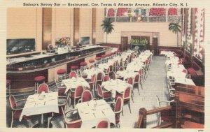 ATLANTIC CITY, NJ, 30-40s; Bishop's Savoy Bar, Restaurant, Cor. Texas & Atlantic