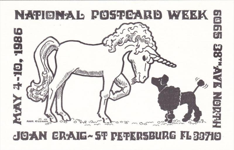 Unicorn #2 , Postcard Week Postcard , 1986