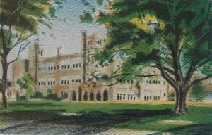Honeoye Falls NY, New York - Watercolor of High School by Paul Andrews