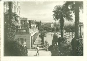 Croatia, Opatija, Setaliste Slatina, 1954 used real photo