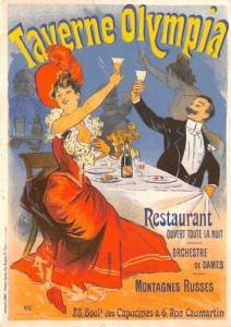 Taverne Olympia Advertising Poster Postcard