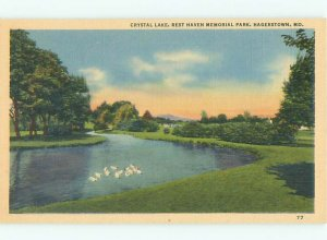 Linen LAKE SCENE Hagerstown Maryland MD AE4538