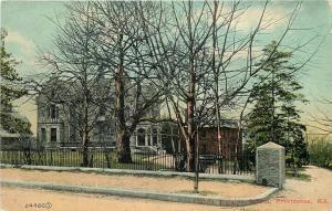 Providence Rhode Island~Morris Heights School~Wrought Iron Fence~1910 Postcard