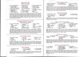 Bordo Vintage Booklet America's Favorite Date Recipes