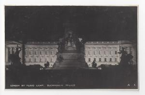 UK London Buckingham Palace by Flood Light Photochrom RP