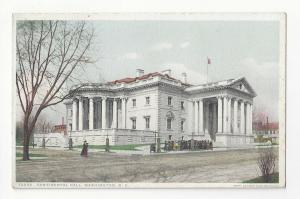 Washington DC Continental Hall Vintage Photostint Detroit Publishing Postcard
