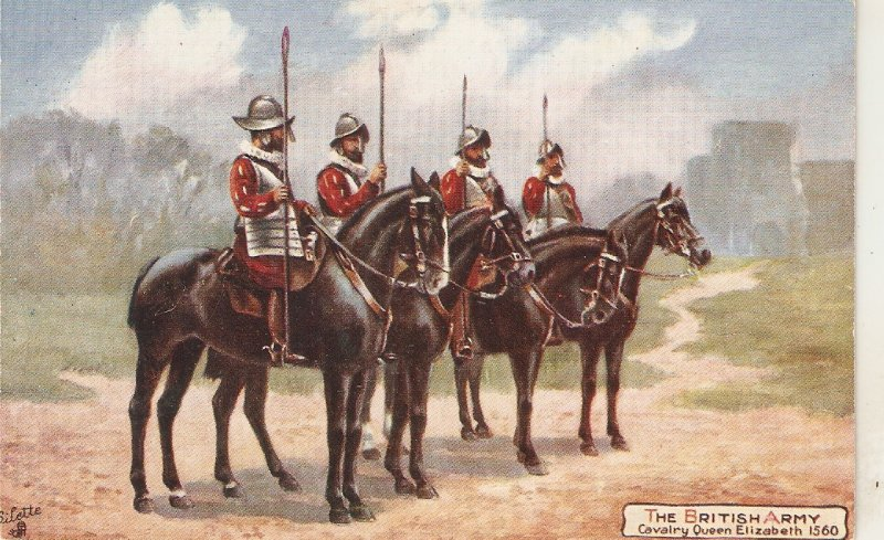 Harry Payne The British Army .Cavslry Queen Eluzabeth TuckOikette PC # 9478