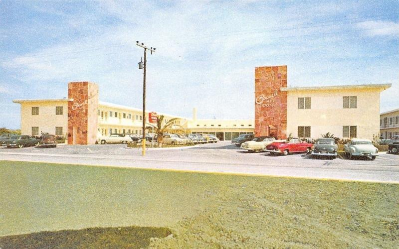 Miami Beach FL~Carousel Motel Apartments~Collins Ave~Nice 1950s Cars~Postcard