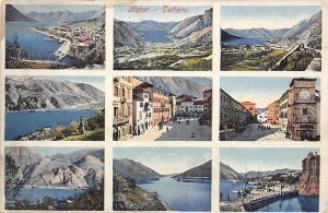 Montenegro Kotor, Cattaro, multiviews souvenir 1915
