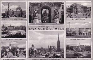Das Schone Wien Austria Multi View Old Postcard