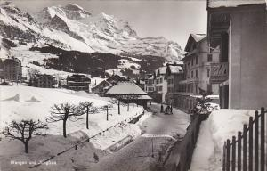 Switzerland Wengen im Winter mit Jungfrau Photo