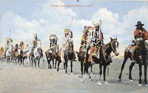 G21/ Native American Indian Postcard c1910 Canada Parade Candadian 1