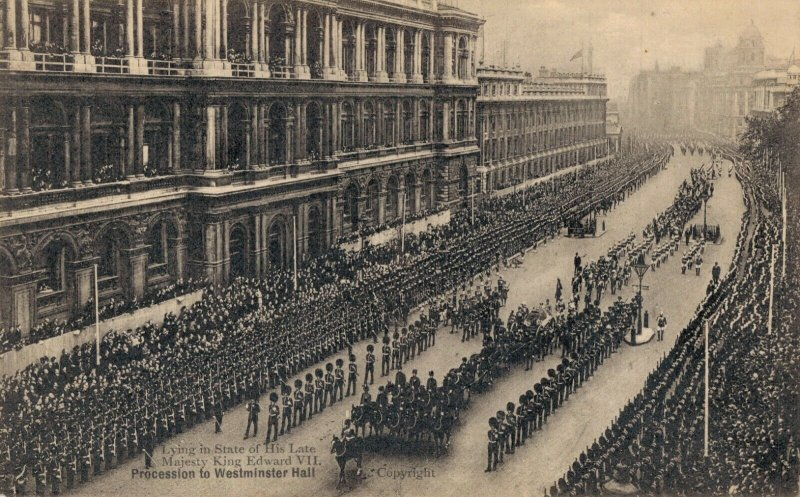 UK Funeral Procession to Westminster Hall King Edward VII 06.86