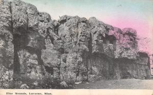 Luverne Minnesota~Blue Mounds State Park~Closeup~Rock Formations 1911 Postcard