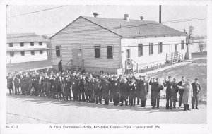 A First Formation Army Reception Center New Cumberland Pennsylvania Postcard