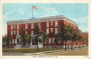 C48/ Elkins West Virginia WV Postcard 1926 Hotel Randolph Building