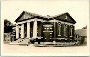 SHENANDOAH, Iowa RPPC Real Photo Postcard METHODIST CHURCH Street View - Unused