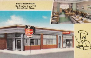 Massachusetts Greenfield Bill's Restaurant Routes 5 and 10 sk881