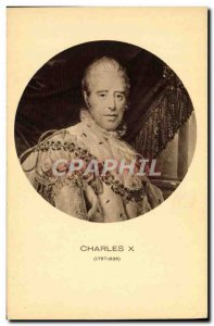 Old Postcard Charles X King of France