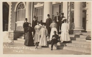 RP: STOWE , Vermont, 1900-10s ; Diamond's Theater's Cast, 1 in black face