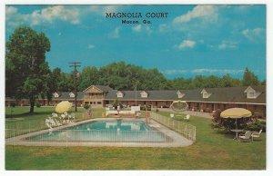 Macon,  Georgia, Vintage Postcard View of Magnolia Court