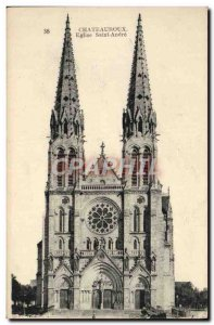 Postcard Old Church Chateauroux Saint Andre