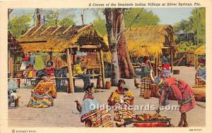 A Corner of the Seminole Indian Village Silver Springs, Florida, FL, USA Indi...