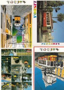 Portugal Lisboa Bus Transport Bundle of 4x Buses Postcard s