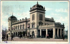 Savannah, Georgia Postcard UNION STATION Railroad Depot Street View 1910 Cancel
