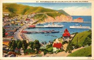 California Santa Catalina Shoreline Bay Of Avalon 1937
