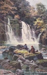 Upper falls of the Clangwyn , Glyn Neath , Wales , PU-1912 : TUCK #7696