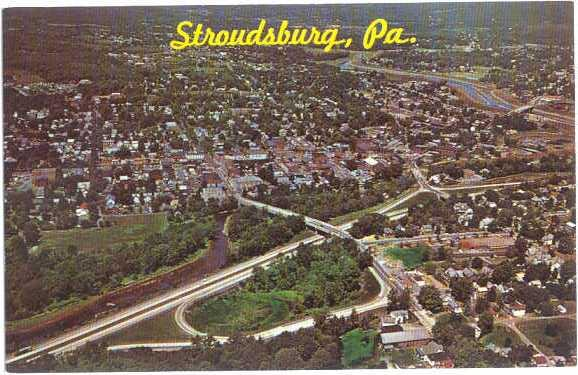 Air View of Stroudsburg Pennsylvania PA