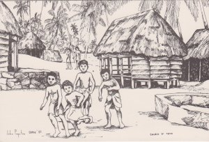 Children of Tafua , Samoa , 1985